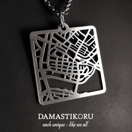 Karttakoru Kaupunkikoru Damastikoru